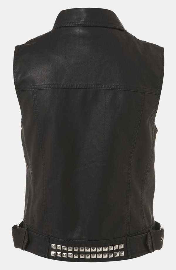 Alternate Image 2  - Topshop 'Dallas' Faux Leather Vest