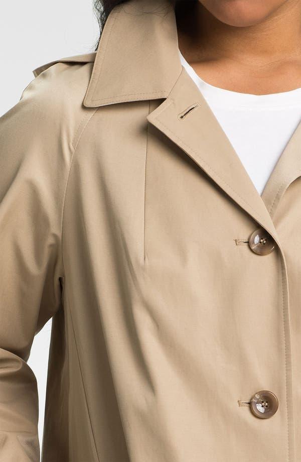 Alternate Image 3  - Gallery Contrast Trim A-Line Coat (Plus Size)
