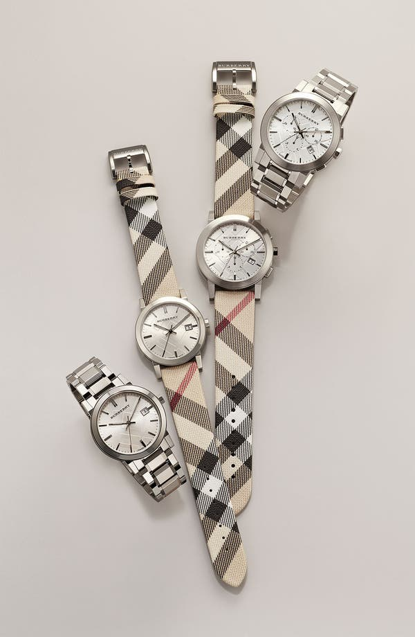 Alternate Image 2  - Burberry Large Check Strap Watch, 38mm