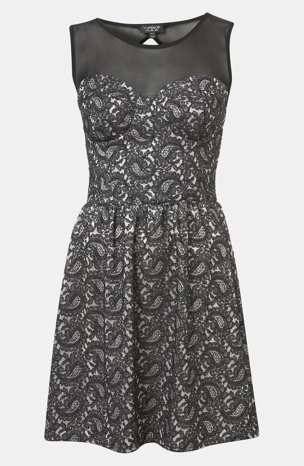 Main Image - Topshop Paisley Lace Dress