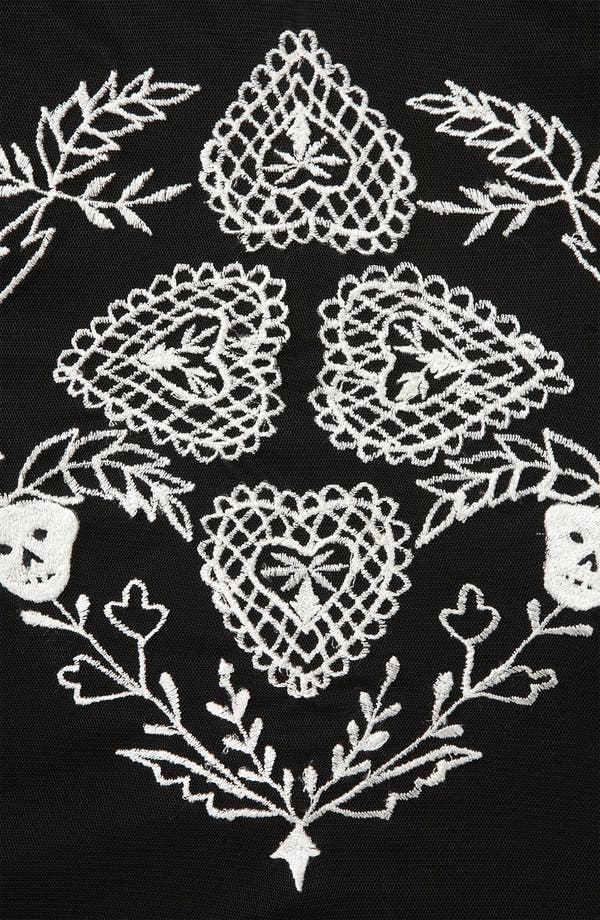 Alternate Image 3  - Topshop Skull Embroidered Top