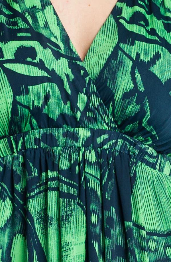 Alternate Image 3  - Tbags Los Angeles Short Sleeve Surplice Knit Dress (Plus)