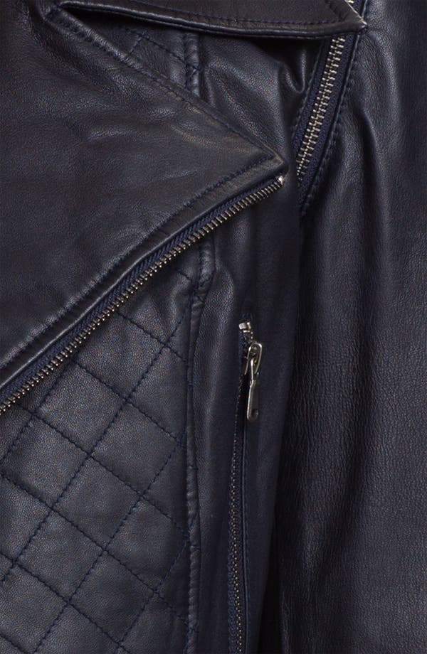 Alternate Image 3  - Kenna-T Convertible Quilted Leather Biker Jacket