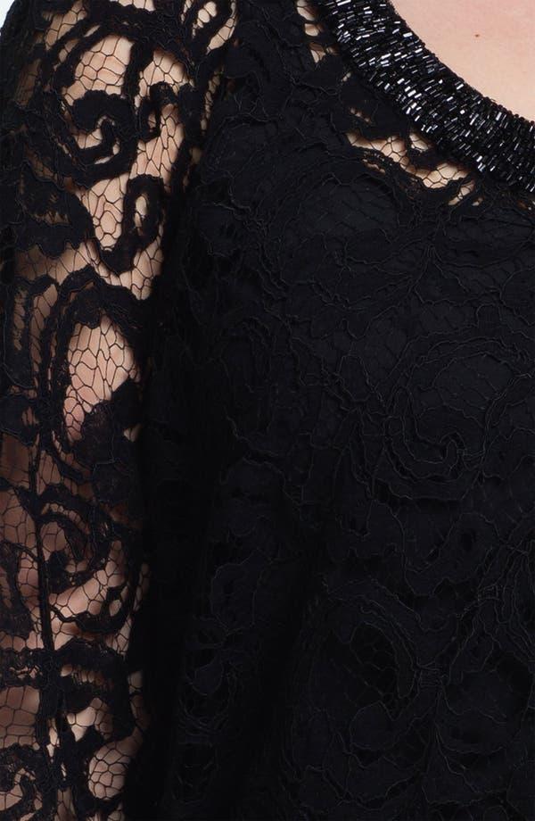 Alternate Image 3  - Karen Kane Beaded Lace Scarf Top (Plus)