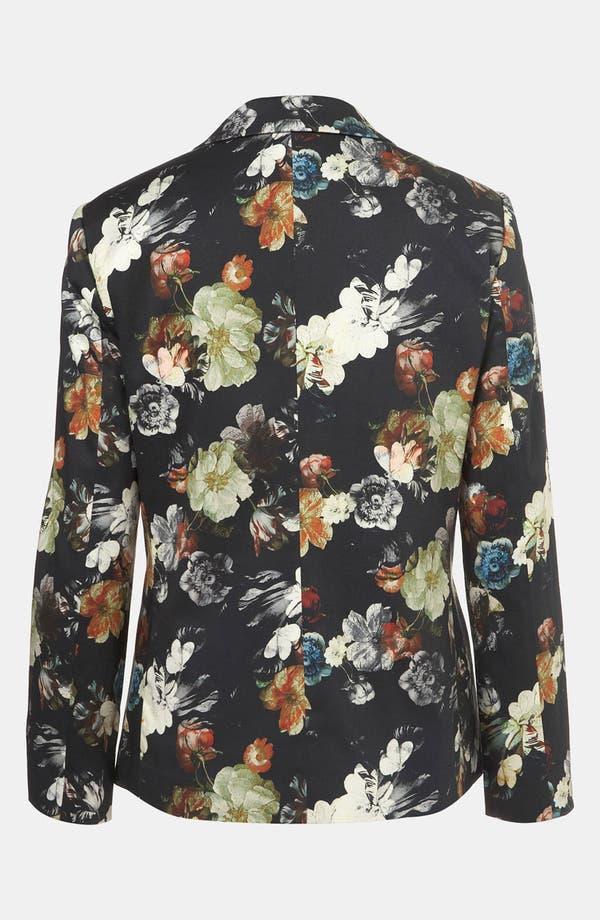 Alternate Image 2  - Topshop Floral Print Open Front Blazer