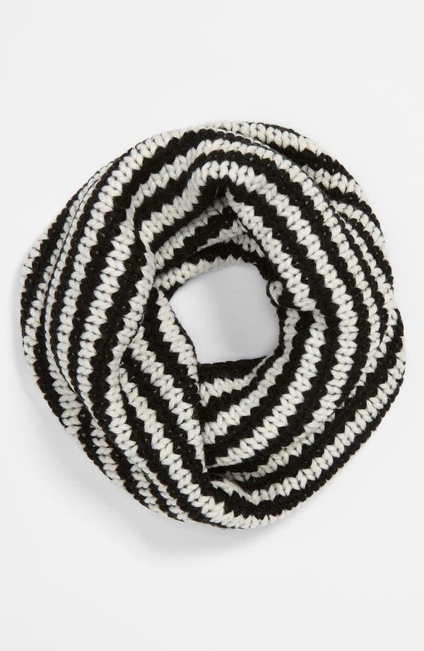 Alternate Image 1 Selected - Echo Stripe Knit Infinity Scarf (Girls)