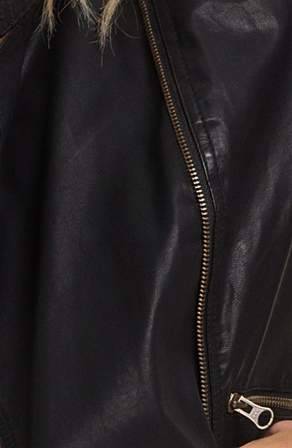 Alternate Image 3  - Free People 'Sunburst' Faux Leather Moto Jacket