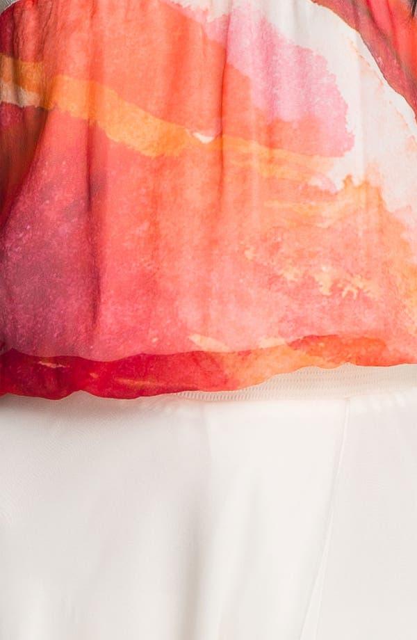 Alternate Image 3  - Haute Hippie Abstract Floral Chiffon Maxi Dress