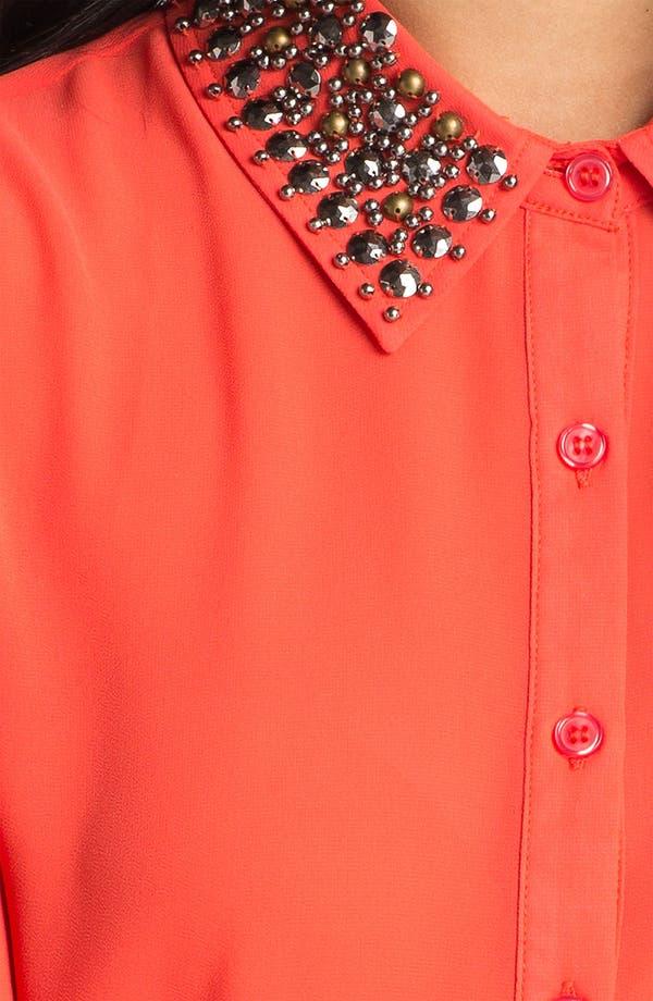 Alternate Image 3  - Lush Embellished Collar Shirt (Juniors)
