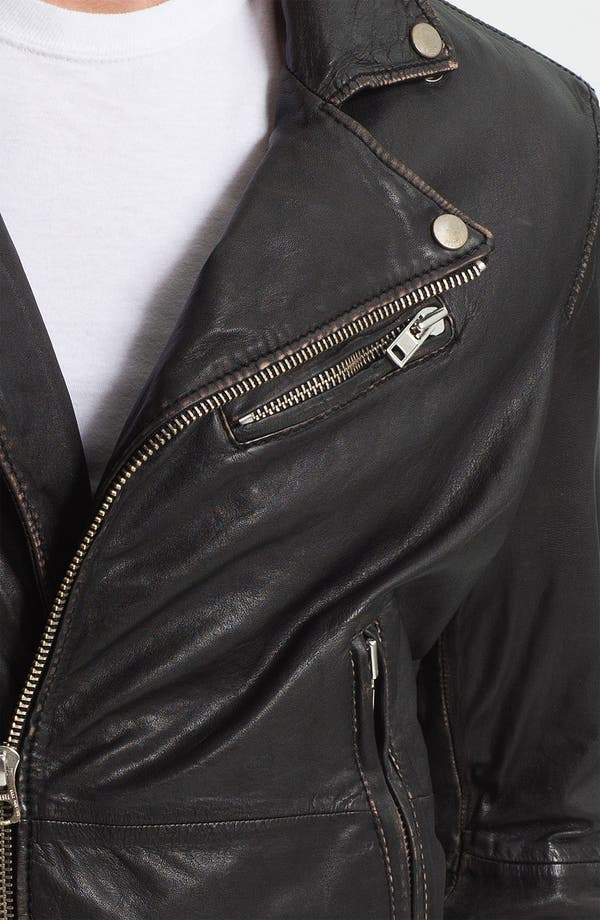 Alternate Image 3  - DIESEL® 'Lapismium' Coated Leather Moto Jacket