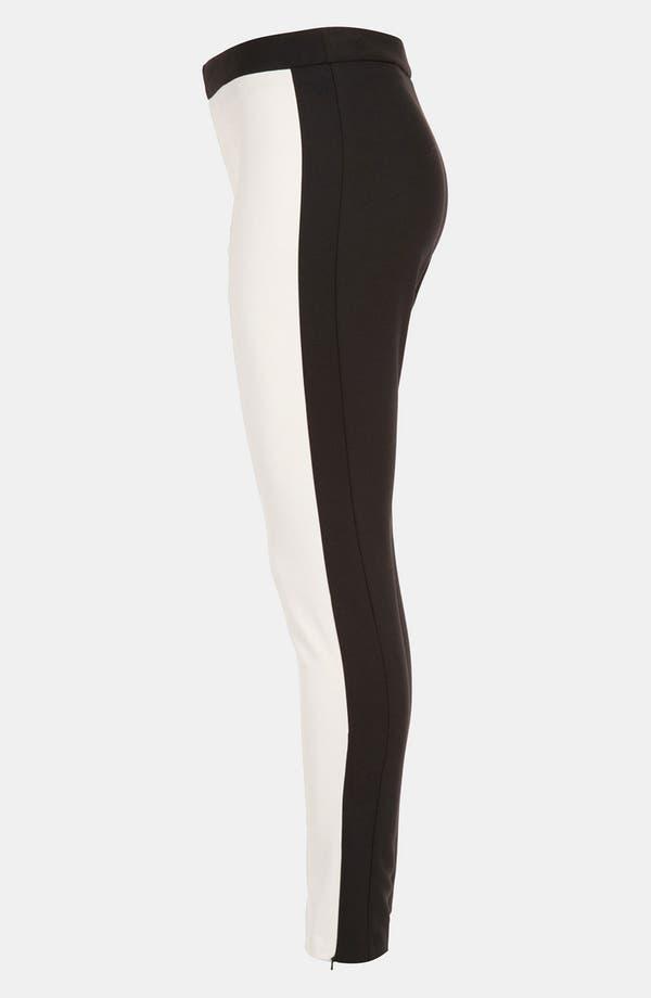Alternate Image 4  - Topshop Colorblock Skinny Pants