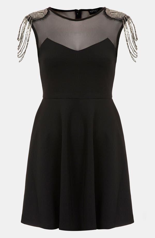 Main Image - Topshop Fringe Embellished Skater Dress