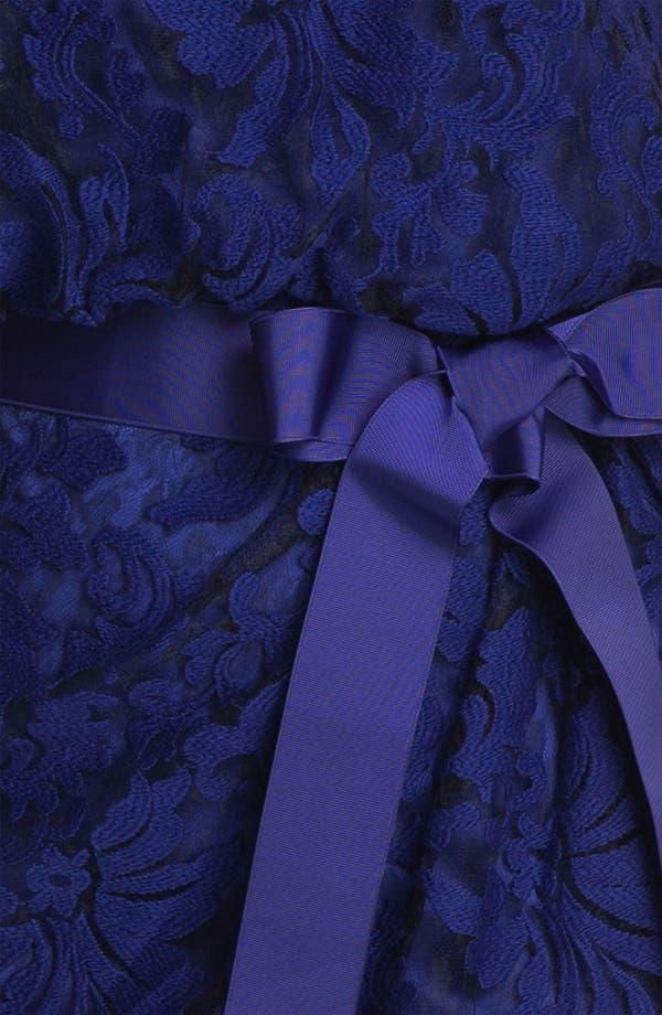 Alternate Image 3  - Tadashi Shoji Ribbon Tie Lace Overlay Dress (Plus Size)