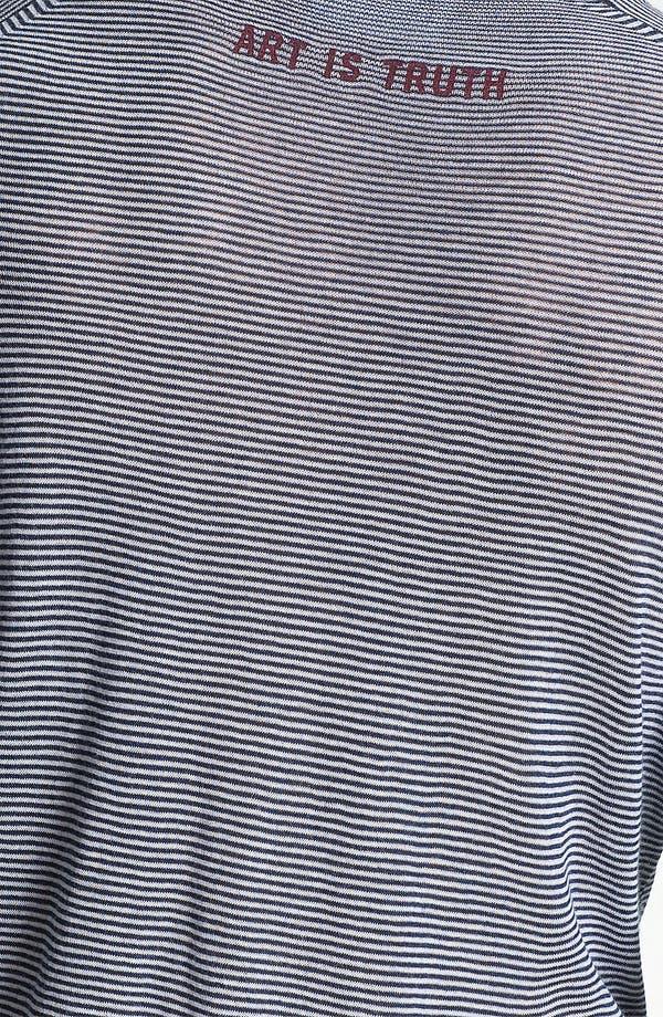 Alternate Image 3  - Zadig & Voltaire Notched Stripe Knit T-Shirt