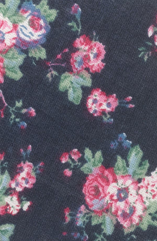 Alternate Image 2  - Topman Floral Print Chambray Woven Tie