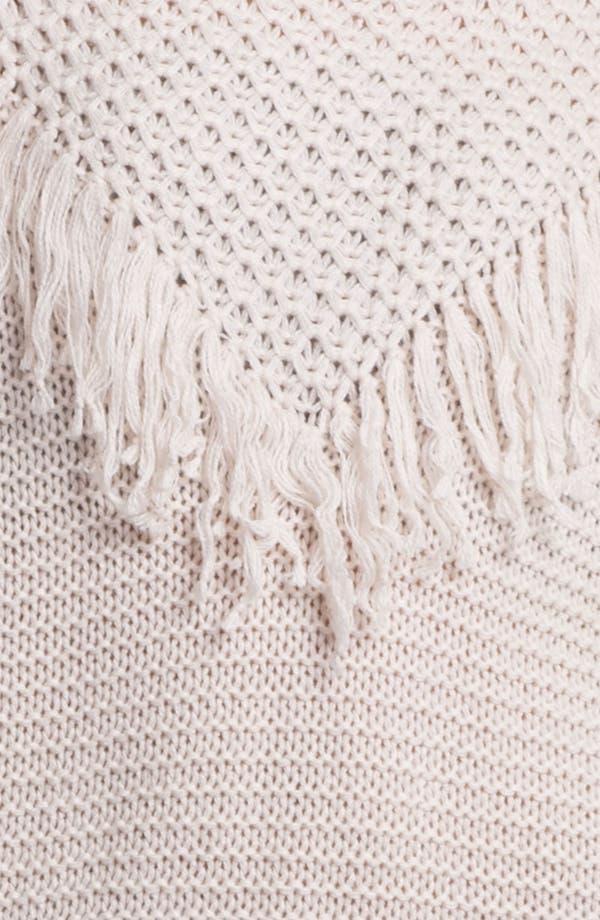 Alternate Image 3  - Rubbish® Fringed Slouchy Sweater (Juniors)