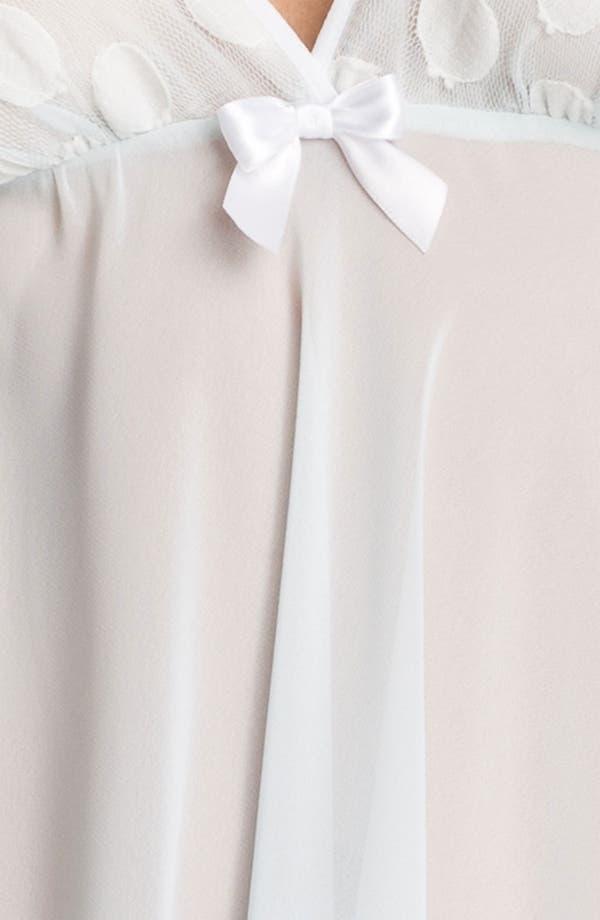 Alternate Image 3  - Oscar de la Renta Sleepwear 'Sweet Dot' Georgette Chemise