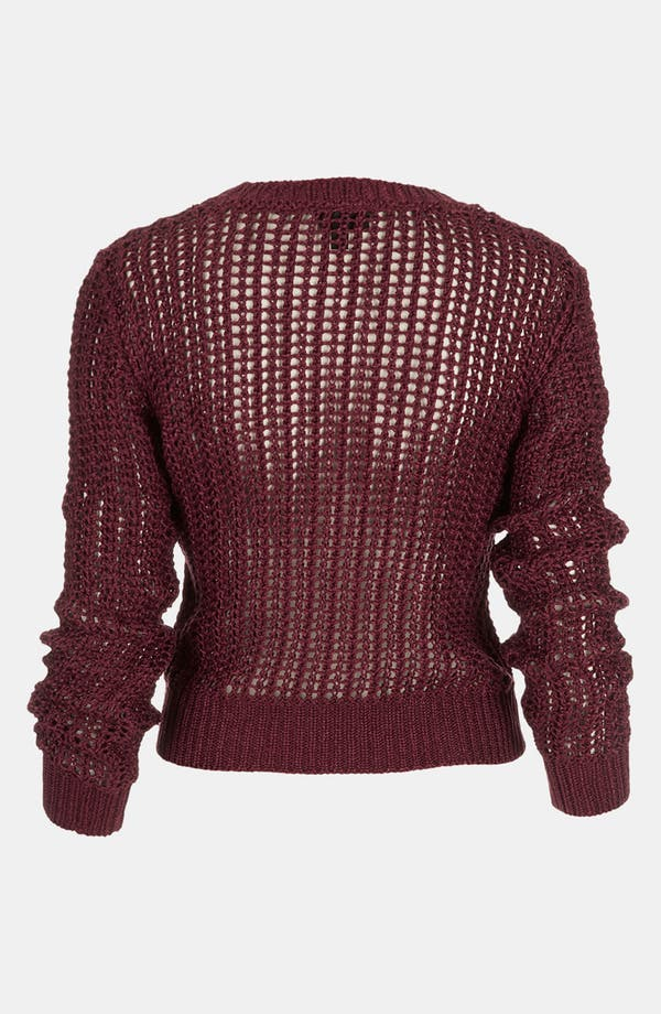 Alternate Image 2  - Topshop Lustrous Mesh Knit Sweater