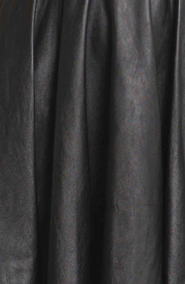 Alternate Image 3  - Diane von Furstenberg 'Jeannie' Leather Fit & Flare Dress