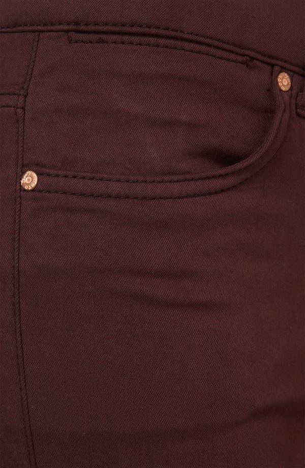 Alternate Image 3  - Topshop Moto 'Leigh' Skinny Jeans (Wine)