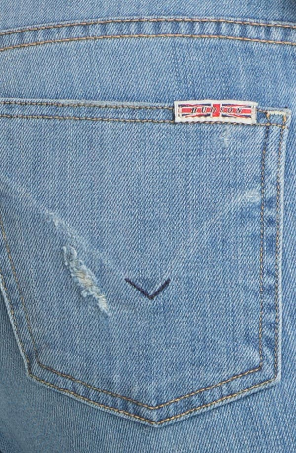Alternate Image 3  - Hudson Jeans 'Courtney' Slashed Straight Leg Jeans (Anti-Establishment)