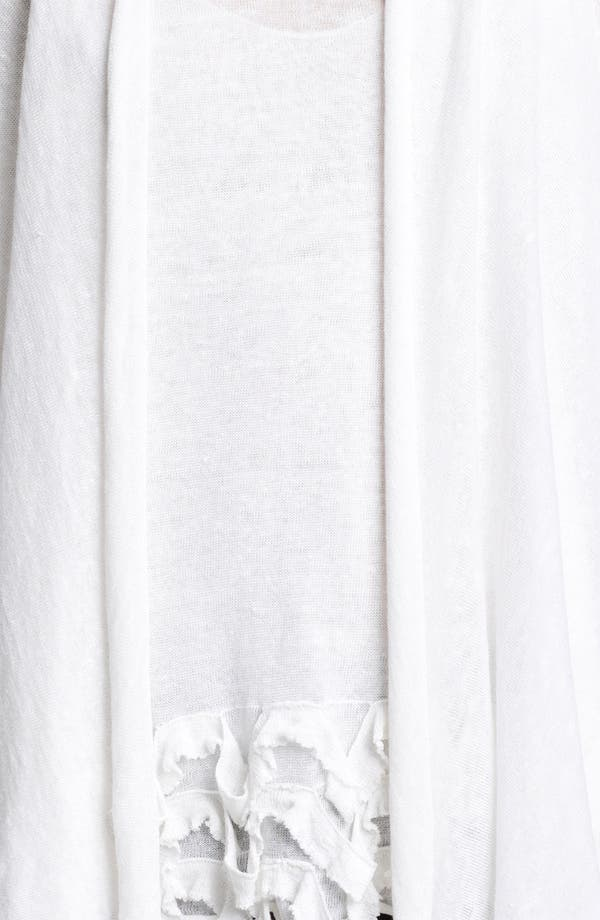Alternate Image 3  - Donna Karan Collection Ruffled Linen Blend Cozy
