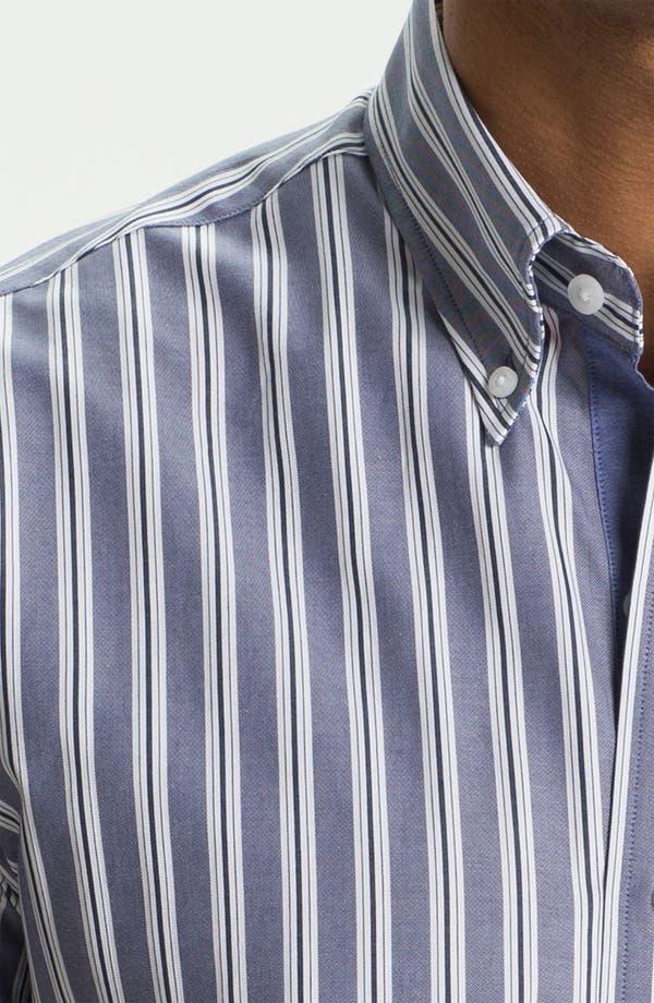 Alternate Image 3  - Cutter & Buck 'Atherton Stripe' Regular Fit Sport Shirt (Big & Tall)