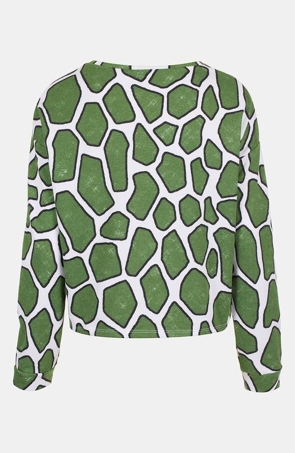 Alternate Image 2  - Topshop Embroidered Tiger Print Sweatshirt