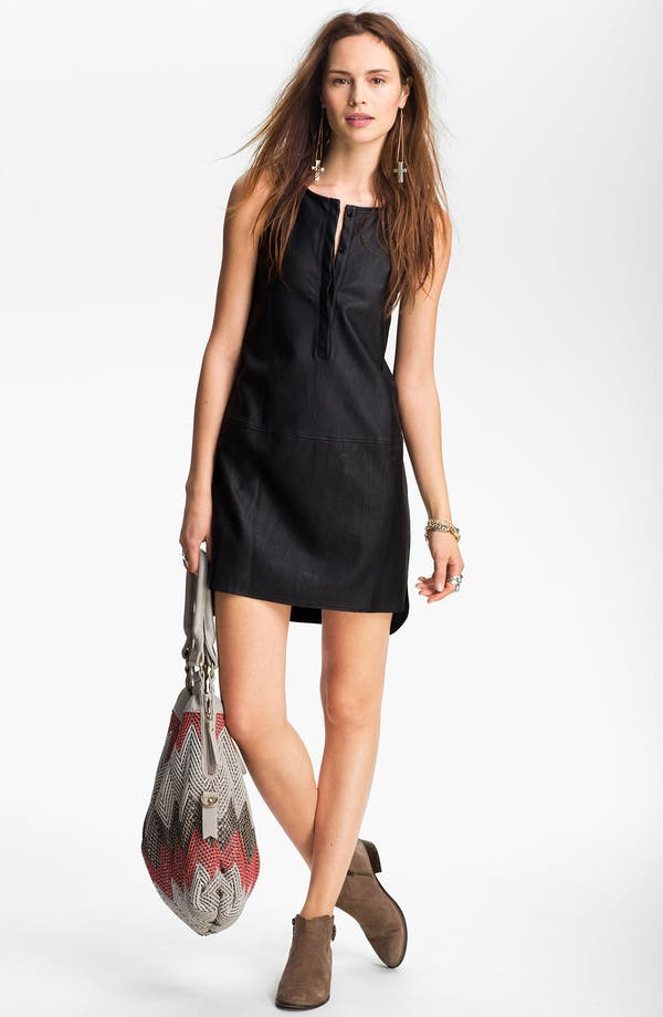 Alternate Image 2  - ASTR Faux Leather High/Low Tank Dress
