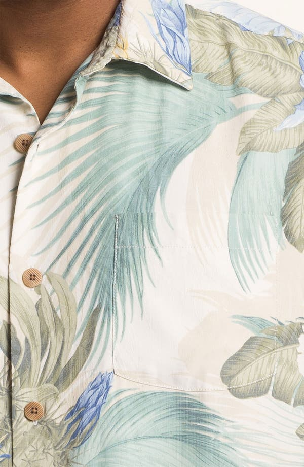 Alternate Image 3  - Tommy Bahama 'Garden of Hope & Courage' Silk Campshirt (Big & Tall)