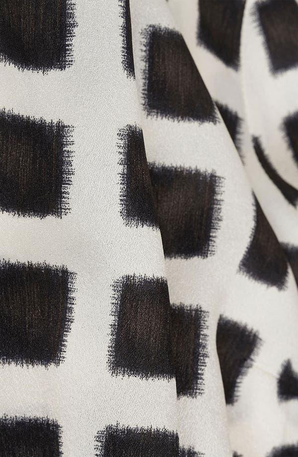 Alternate Image 4  - Topshop Grid Print Shift Dress