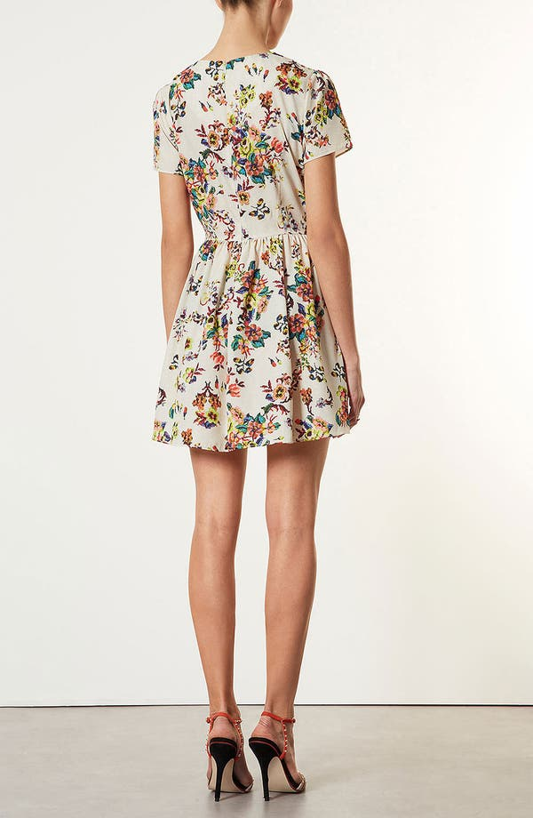 Alternate Image 2  - Topshop 'Florence' Sampler Print Dress