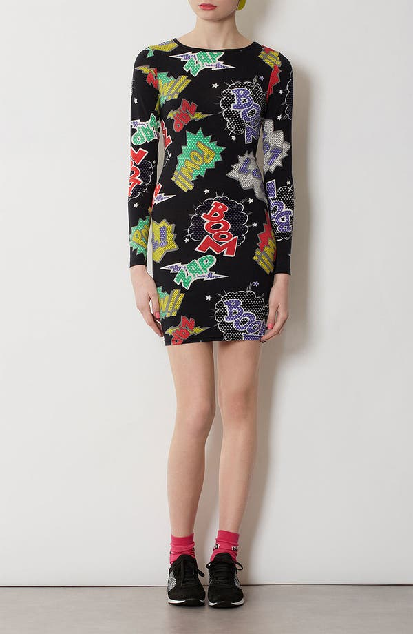 Alternate Image 1 Selected - Topshop Comic Book Print Body-Con Dress