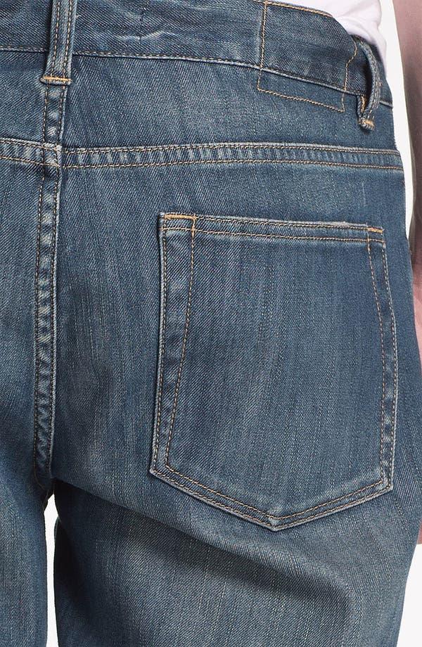 Alternate Image 5  - Topman Washed Denim Shorts