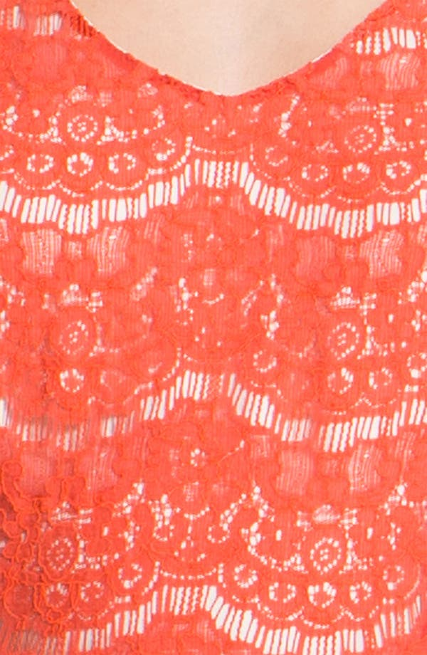 Alternate Image 3  - Kensie Floral Lace Dress
