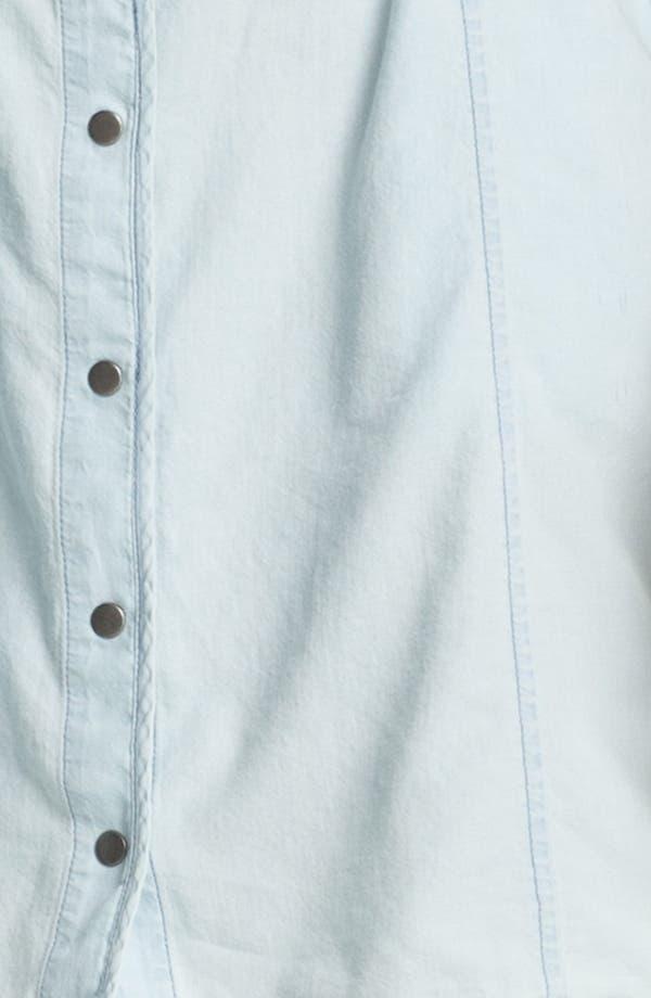 Alternate Image 3  - Rubbish® Chambray Bustier Dress (Juniors)