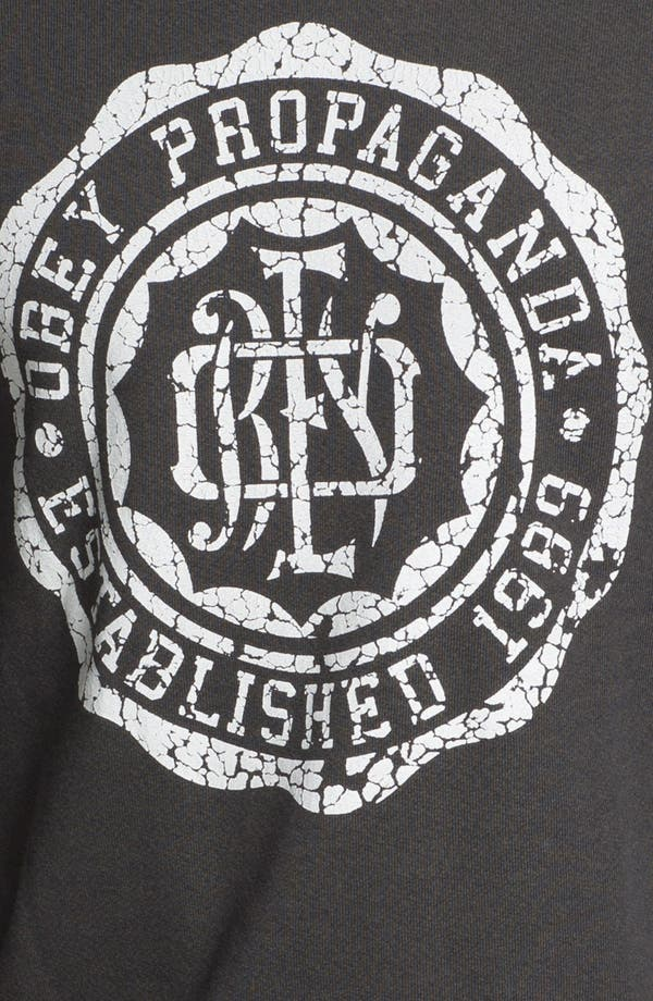 Alternate Image 3  - Obey 'College Crest' Graphic Crewneck Sweatshirt.