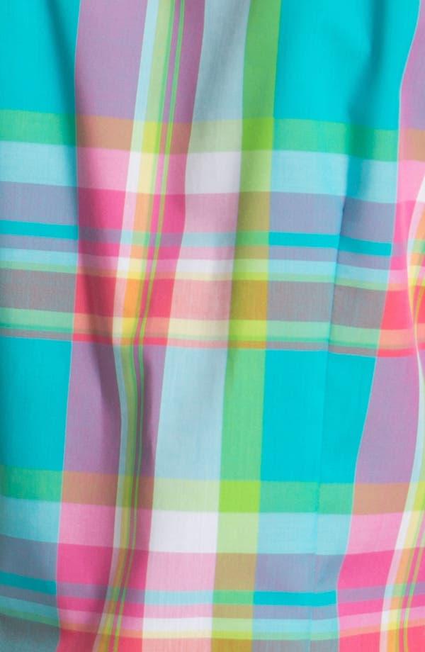Alternate Image 3  - Foxcroft Three Quarter Sleeve Plaid Shirt (Petite)