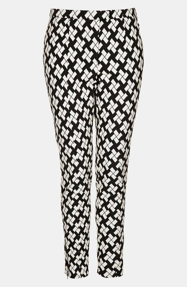 Alternate Image 3  - Topshop Pinwheel Print Tapered Pants