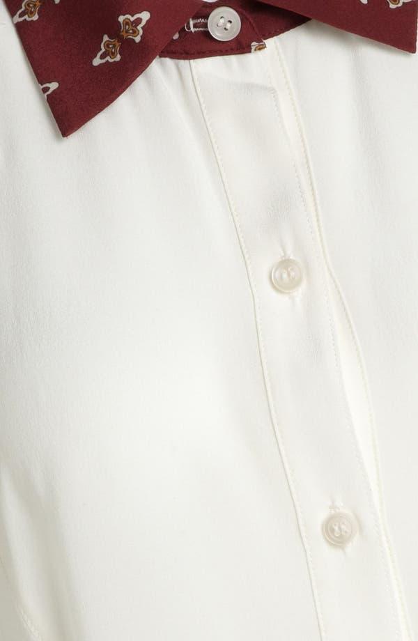 Alternate Image 3  - Wayf Print Collar Chiffon Tunic