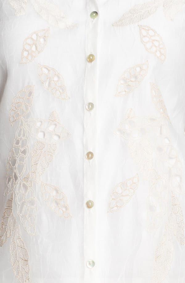 Alternate Image 4  - Nic + Zoe 'Embroidered Shores' Shirt