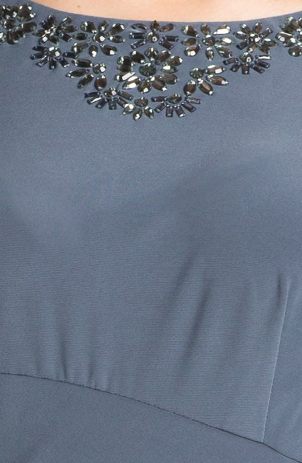 Alternate Image 3  - Alex Evenings Embellished Faux Wrap Dress (Plus Size)