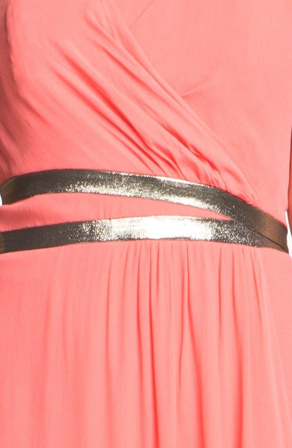 Alternate Image 3  - Nicole Miller Strapless Georgette Gown