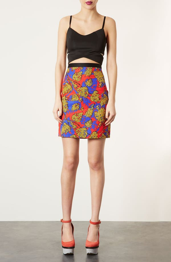 Alternate Image 5  - Topshop Leopard Leaf Print Pencil Skirt