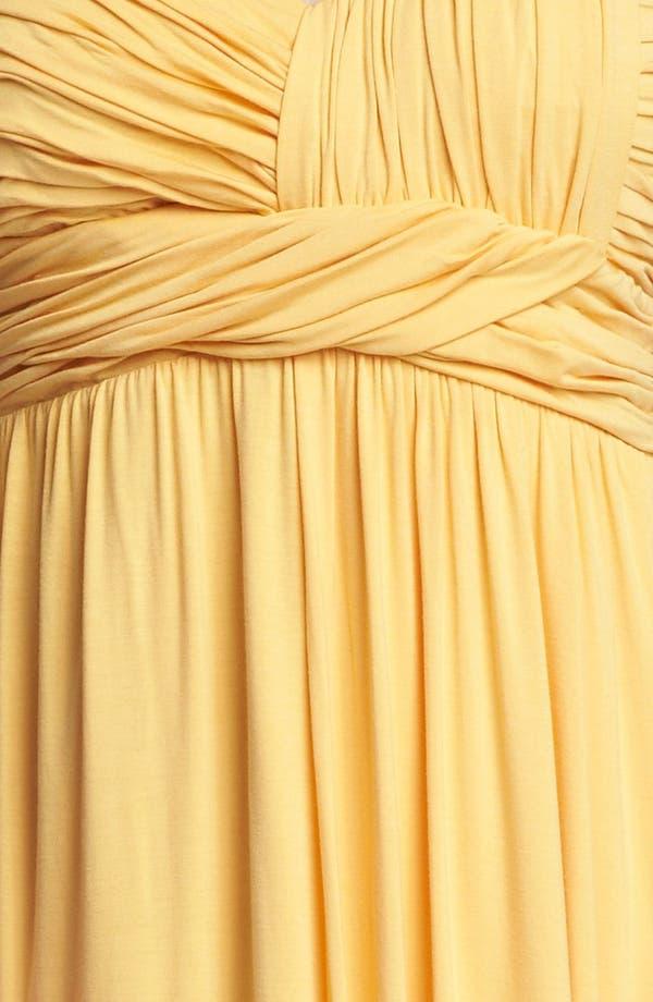 Alternate Image 3  - Kische Gathered Front Drape Jersey Dress (Plus Size)