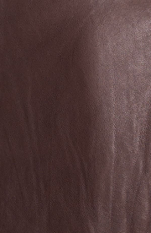 Alternate Image 3  - DKNY Collarless Leather Jacket
