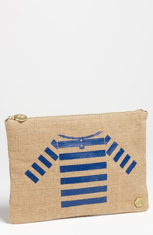 Alternate Image 1 Selected - Jonathan Adler 'Sailor Shirt' Canvas Pouch