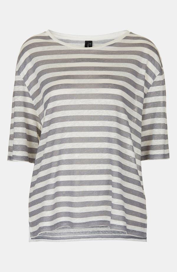 Alternate Image 1 Selected - Topshop Boutique Stripe Linen Tee