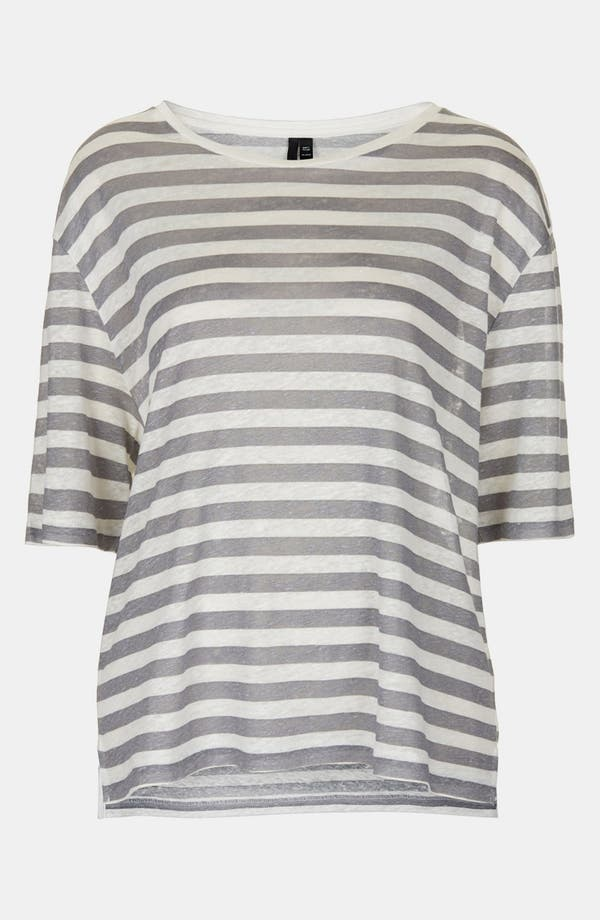 Main Image - Topshop Boutique Stripe Linen Tee