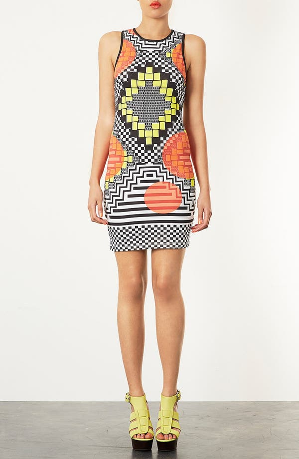 Alternate Image 1 Selected - Topshop 'Africa Block' Body-Con Dress